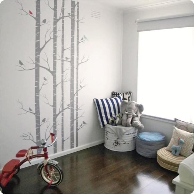 Birch tree wall sticker $179.95