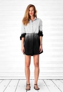 B.YU OVERSIZED DIP DYE COTTON SHIRT DRESS -  MADE IN ITALY  $289.95