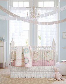 Pottery Barn baby girl room