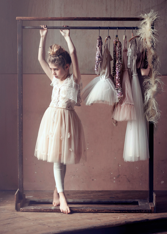 Curtain Call Caplet, Offwhite with Giselle Tutu, Biscotti