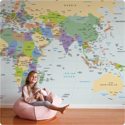 World Map wall sticker $499.95