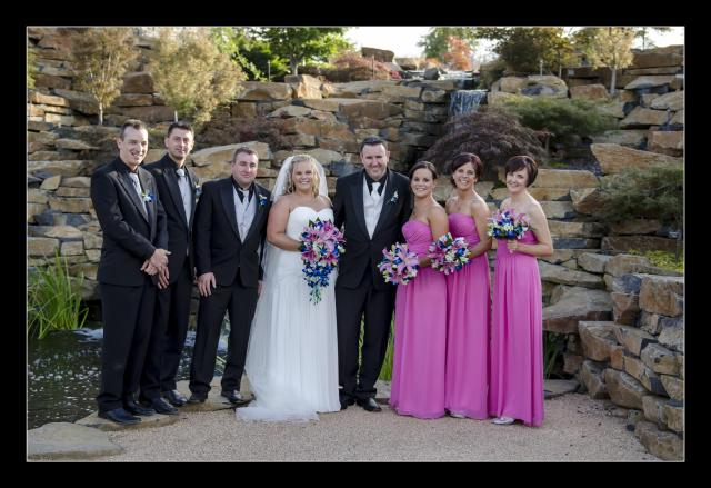 The love birds with their bridal party