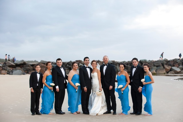 The gorgeous wedding party