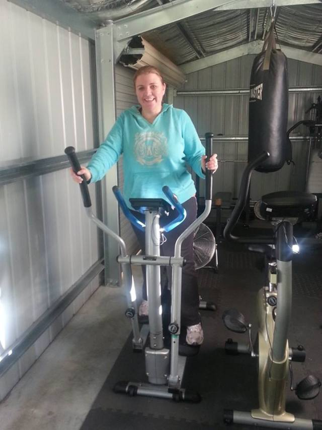 Amy McWilliams riding towards her goals!