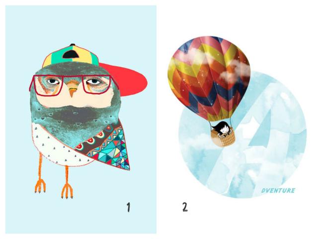 owl & balloon