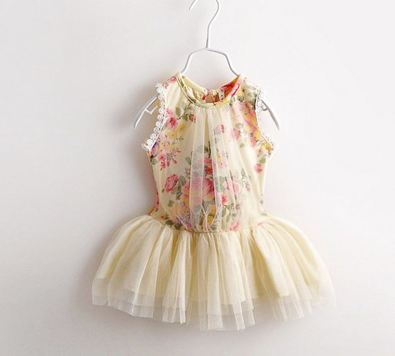 rose print mim tutu dress