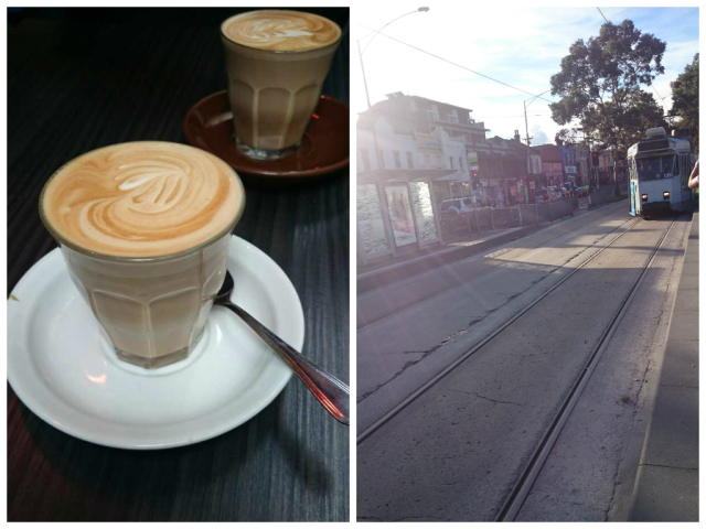 coffee and tram