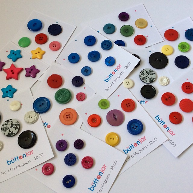 button jar magnets
